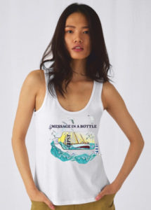camiseta-message-in-a-bottle-gipsy-1927--gin-blanca-tirantes-mujer